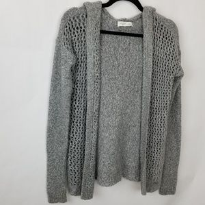 Gilly Hicks Gray Open Font Hoodie Cardigan Small
